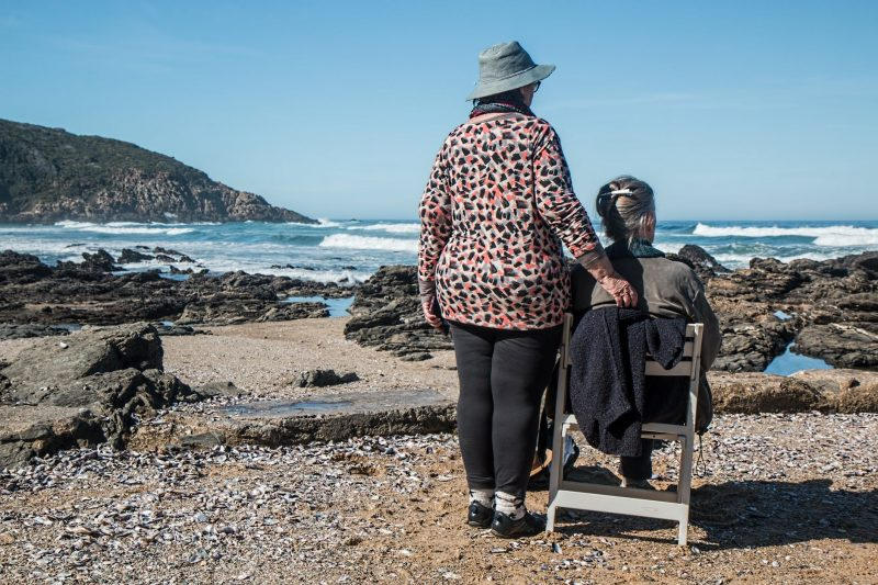 elderly people on beach janumet